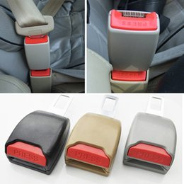 Wholesale Car Seat Safety Buckle New - Holesale New Extender Extension Safety Car Truck Seat Belt Buckle Universal Buckle Black Gray yellow free shipping
