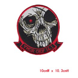 DIY Flowered Skull Embroidered Patches Fabric Badges Iron-On Sew-On Sewing For Bags Clothes Hat DIY Decorative Ornament