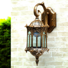 Wholesale Special outdoor wall lamp european style garden wall lamp villa courtyard lamp waterproof outdoor balcony lamp aluminum outer wall hanging w