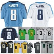 Wholesale 2015 Draft Pick Jersey Titans Marcus Mariota DARK BLUE light blue white Tennessee jersey