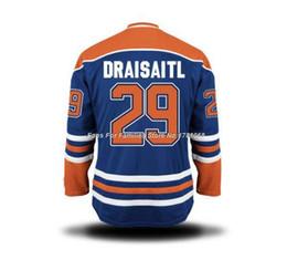 Factory Outlet, Men's Ice Hockey Jerseys Leon Draisaitl #29 Jersey (HOME BLUE)Cheap Authentic #29 Leon Draisaitl Jersey,Size S-3XL