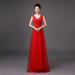 Shanghai Story Bride Luxury Elastic Satin Dress Festival Forma V Neck Evening Dresses Lace Evening Dress