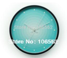 Wholesale digital wall clock new available home garden Waves gradient Creative fashion aluminium sitting room wall clock