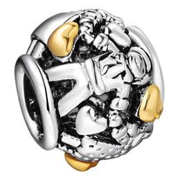 925 granos del encanto de plata de ley con el patrón GirlBoy 14K oro Corazones Para los encantos de Europa Femenino de la joyería DIY pulsera de cadena de Pandora de la serpiente cheap gold heart 925 bracelet desde corazón del oro de la pulsera 925 proveedores