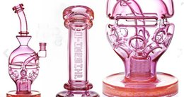 Pink Fab Egg Ball Thick Glass Bongs Recycler Dab Rigs Water Pipes 2 Function Glass Bong Smoking Pipe Hookahs 14 mm Join Cheap