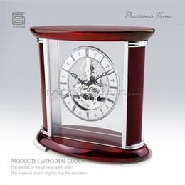 Wholesale Precious time handmade crystal piano paint mahogany clock wc102