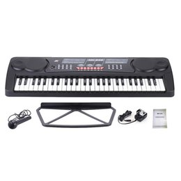 Wholesale High Quality Keys Multifunctional Electronic Music Keyboard Piano Digital Organ with Sheet Holder Mic Christmas Gift UK Plug order lt no