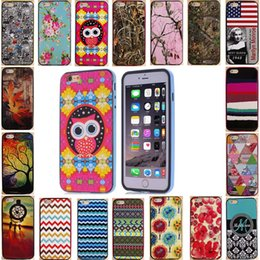 Wholesale 26 Kinds Of IMD Patterns Cell Phone Cases For iPhone6 iphone Plus Shock Proof Case Hybrid TPU Cover PC Bumper Add Screen Protector