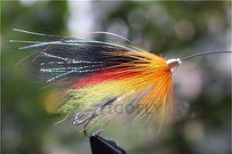 Tigofly 24 pcs lot Yellow&Black Feather Cone Head Tube Fly Streamer Fly Salmon Trout Steelhead Fly Fishing Flies Lures