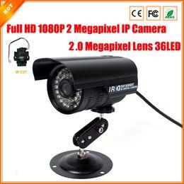 2.0 mégapixels lentille 2MP 1080p Full-HD IP caméra 30fps CCTV Caméra étanche sécurité anti-IR filtre logiciel libre cheap security camera ip software à partir de logiciel caméra de sécurité ip fournisseurs