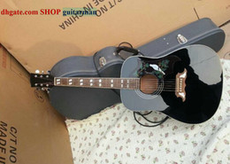 Black Dove Acoustic Guitar With Fishman Acoustic Electric Guitar free shipping HOT SALE