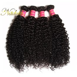 Nadula 8-26inch Indian Curly Hair 100% Human Hair Bundles Machine Double Weft Top Virgin Hair Weaves 1Piece Can Be Dyed Free Shipping