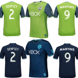 Wholesale 16 Top quality Seattle Sounders jersey DEMPSEY MARTINS home green away blue men shirt Seattle Sounders soccer jersey