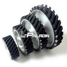 Wholesale 150 mm Assorted Grooved Rubber Polishing Wheel Belt Grinder Sander Contact Wheel Sanding Belt Set