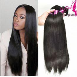 New Arrived Brazilian Human Hair For Sale Cheap 7a Peruvian Malaysian Indian Brazilian Straight Weaves Hair Queen Love Virgin Hair 3 or 4pcs