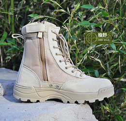 Swat Men's Tactical Boots Zipper Design Desert Boots For Military Enthusiasts Marine Male Combat Shoes