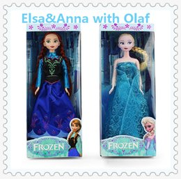 Frozen Figure Play Set princess Elsa Anna Classic Toys Frozen Toys Dolls with olaf retail in box(1702004)