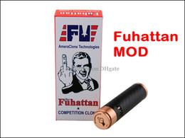 Wholesale Fuhattan Mechanical Body Mod AmeraClone Technologies for E Cigarette Battery as Manhattan Mod for Aspire Nautilus Atlantis Tank