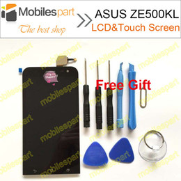 Wholesale-High Quality LCD Display +Touch Screen Assembly Replacement for ASUS Zenfone 2 Laser ZE500KL 5.0inch Smartphone Free Shipping