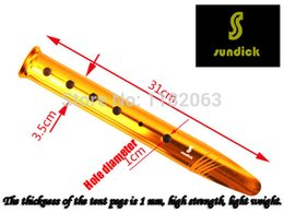 Wholesale New Aluminium Alloy Sand Snow Tent Pegs Stakes Golden For Outdoor Camping
