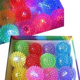 Wholesale TS Brief Flashing Ball Toy s Light Up Spikey High Bouncing Balls Novelty Sensory Hedgehog Ball ST