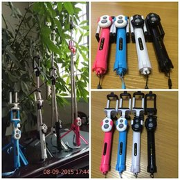 Wholesale Tripod selfie stick bluetooth control in one kit Remote Shutter selfie stick folding monopods stand take photoes