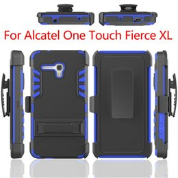 New Arrival All in One Super Combo Protective Case Shockproof Cell Phone Case With Clip For Alcatel one touch fierce 2 XL 5054