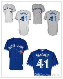 Wholesale 2016 New New Toronto Blue Jays Aaron Sanchez Embroidery Baseball Jersey Authentic Stitched Shirt Mix Order