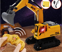 Children's excavator excavator toy remote control car engineering car boy toy electric alloy rechargeable remote-control