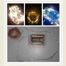 2017 luces de hadas blancas con pilas ¡Acción de los EEUU! El alambre de cobre LED encadena las luces de Chistmas de la luz de hadas que encienden 3M 30 LEDS calienta el blanco caliente / multicolor DHL que envía libremente luces de hadas blancas con pilas oferta