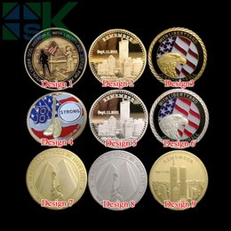 Wholesale Mix Order Silver Gold Plated U S Color Eagle Freedom Medal Coins Metal Craft