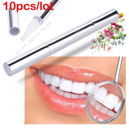 Wholesale 10pcs New Arrival Silvery white Bleach Stain Eraser Teeth Whitening Pen Tooth Gel Whitener Remove Instant SV008109
