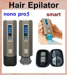 Wholesale nono hair laser Epilator pro5 hair removal device Machine Epilator chrome men woman remover proffesional with levels of temperature OTH028
