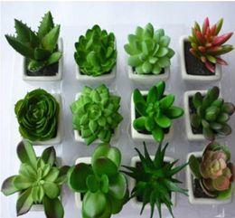 Wholesale Decorative flower pots planters artificial plants with vase bonsai tropical cactus fake succulent plant potted on the desk