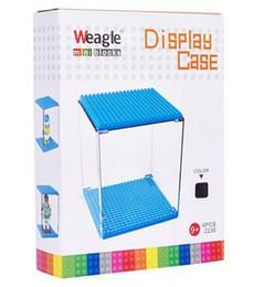 Anime Auction Figures Display Box for Hellokitty Mini Blocks Cartoon Model Plastic Show Case Intelligence Blocks Children Gifts