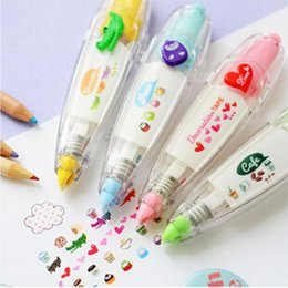 Wholesale Korea Stationery Cute Novelty Decorative Correction Tape Correction Fluid School Office Supply
