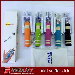 Portable mini monopod selfie stick for iphone 5 5S 6 6Plus For Samsung S5 6 Mini Tripod Pau de self perche selfies 1pcs
