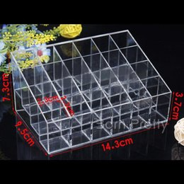 Wholesale Hot Sell Squared Makeup Clear Organizer Cosmetic Nail Art Storage Rack Display Holder