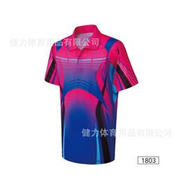 Wholesale-Table tennis Jersey sweatshirt,Polyester breathable quick-drying fabric M-4XL Men women Badminton sport shirt free shipping 259