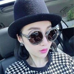 Wholesale karen walker orbit sunglasses new arrival round plank frame women sun glasses new brand designer sunglasses freeshipping