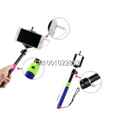 NEW Extendable Self Portrait Handheld Stick Monopod for iPhone for Samsung Free Shipping & Wholesale monopod camcorder