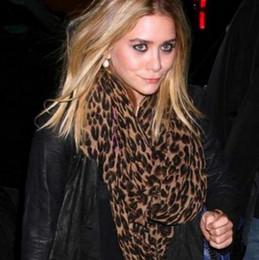 Wholesale-Brand New Fashion Women Ladies Soft Leopard Prints Shawl Scarf Loop Scarves long shawl fashion