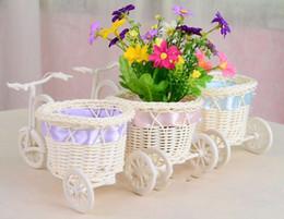 Wholesale Tricycle Bike Design flowers Basket Storage Container Party Wedding flower basket Decor ribbon christmas gifts crafts vase weddingdecoration