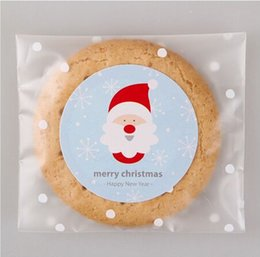 Round Christmas Packaging Label Adhesive Seals Bakery Sticker Labels Christmas Gift Packaging Cookie Decorating Christmas Packaging