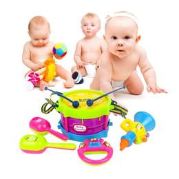 2017 ensembles de batterie 5pcs Enfants Jouets Roll Drum Instruments de musique Band Kit enfants Toy Gift Set peu coûteux ensembles de batterie