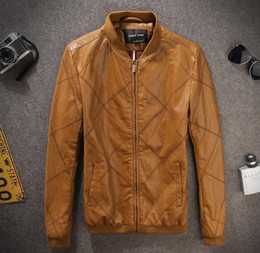 Top Famous Slim West cowboy Motorcycle Leather jackets Fashion zipper biker slim fit leather PU jackets for Male mix order
