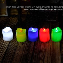 10pcs LED candles christmas decorations LED Tealight Tea Candle Light Battery Valentine's Day Birthday Party Night lights wholesale 0013CHR