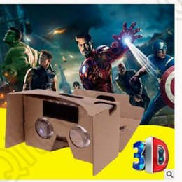 Wholesale Google DIY V2 glasses paper boxes Cardboard vr Viewer D Glasses Mobile Phone Virtual Reality VR D glasses KKA25