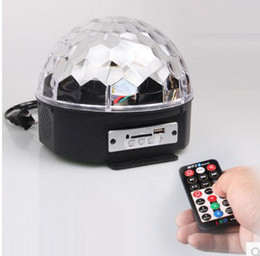 free shipping MP3 LED Crystal Rotating Magic Ball light Christmas RGB full color beam light DJ CLUB party indoor show