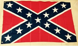 Wholesale 2015 New USA Confederate Rebel Civil War Flag National Polyester Flag Banner Printed Flag X3FT D by dhl